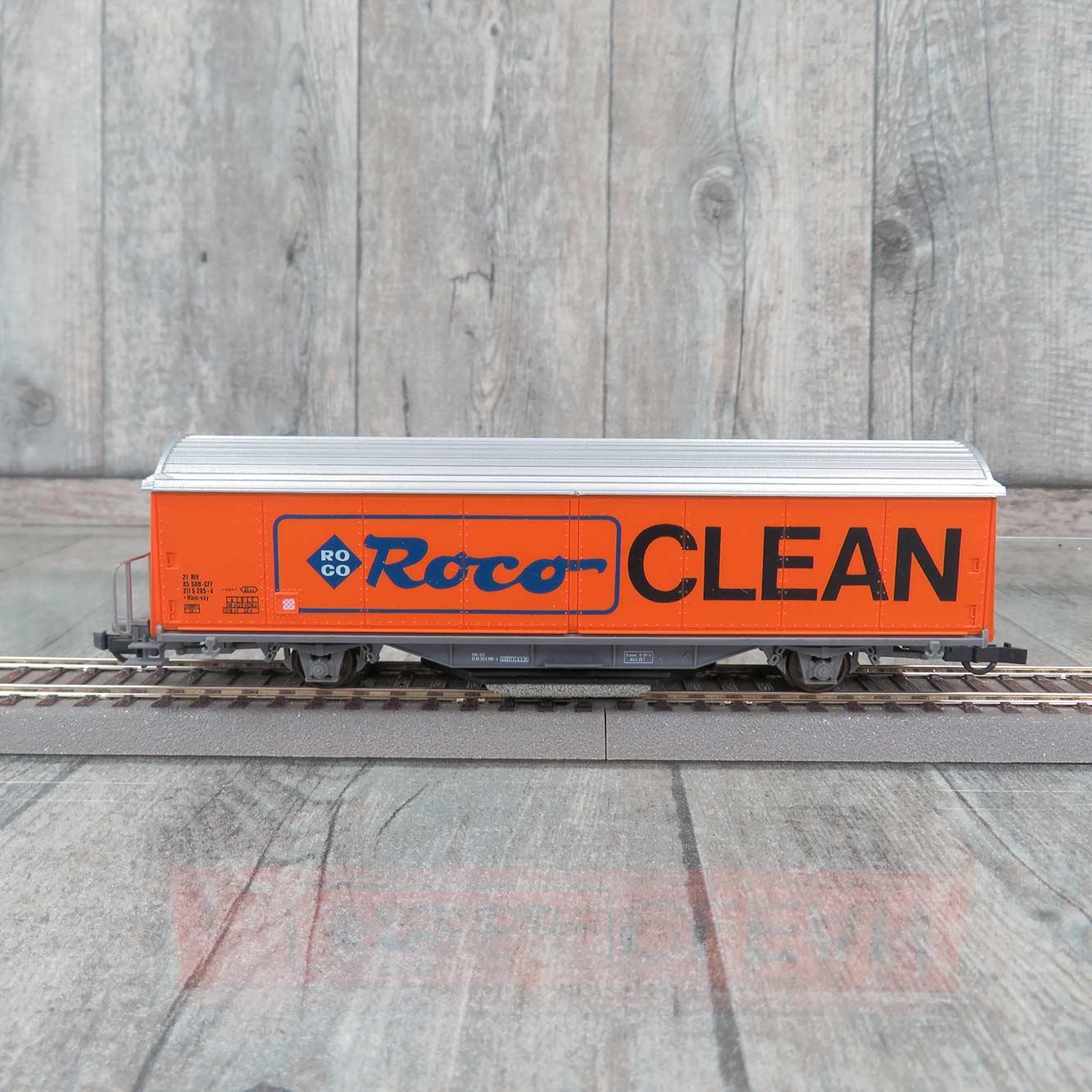 Roco 46400 H0 Roco-Clean Schienenreinigungswagen + NEU /& OVP